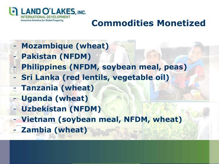 Commodities Monetized