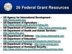 26 federal grant resources1