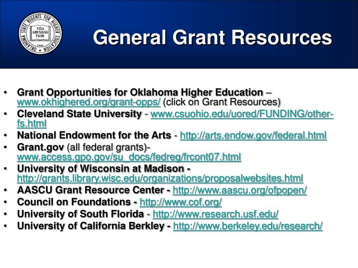 General Grant Resources