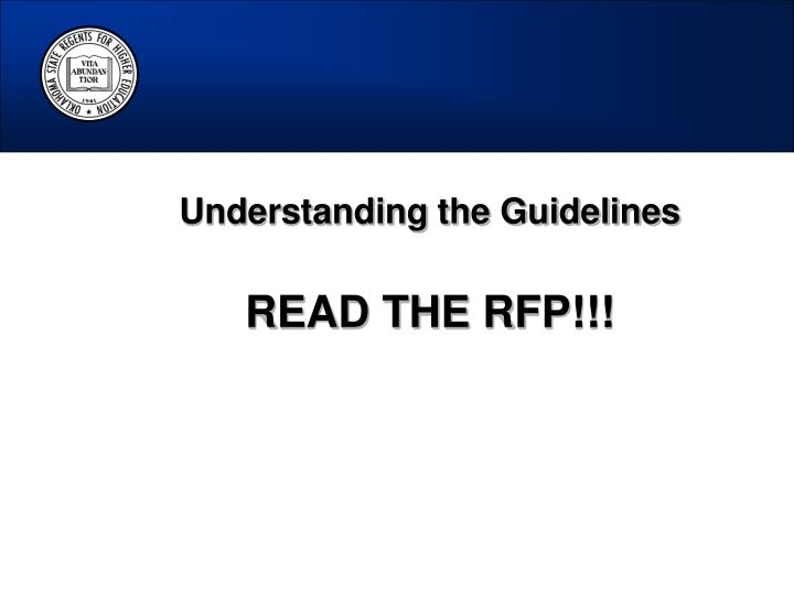 Understanding the Guidelines