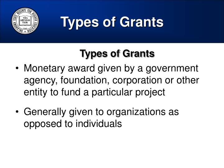 Types of Grants