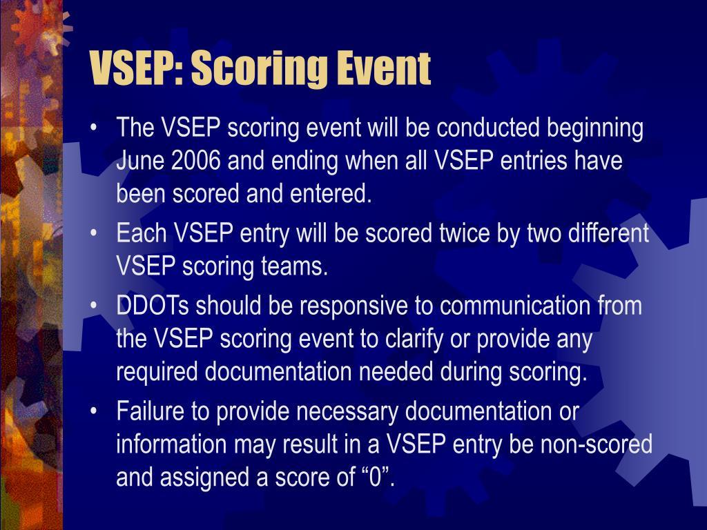 VSEP: Scoring Event