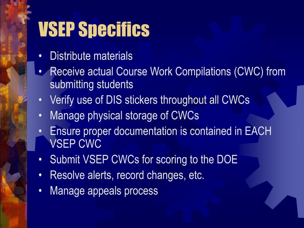 VSEP Specifics