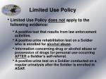 limited use policy2