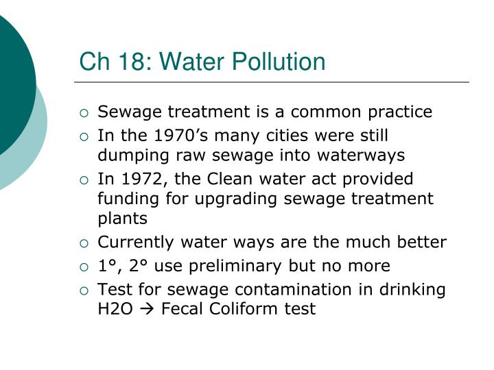 Ch 18: Water Pollution