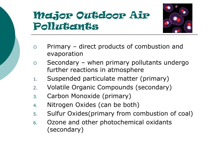 Major Outdoor Air Pollutants