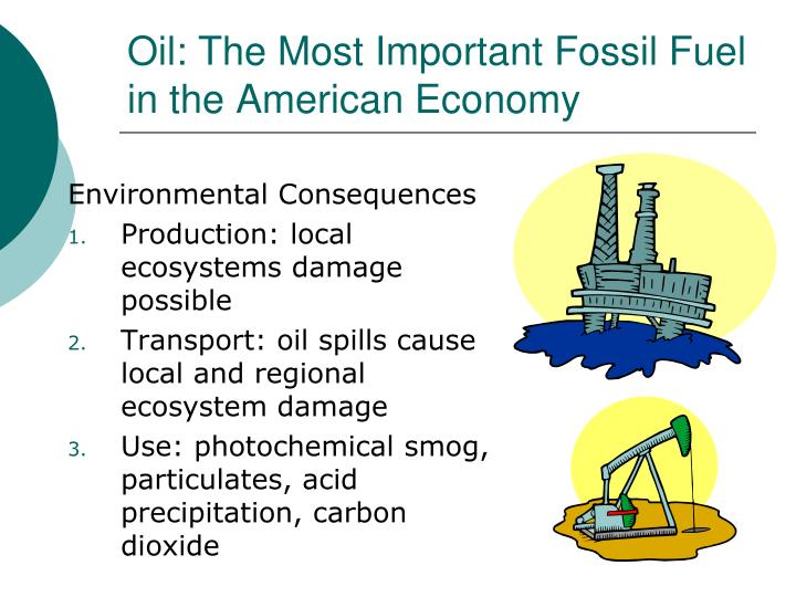 Oil: The Most Important Fossil Fuel in the American Economy