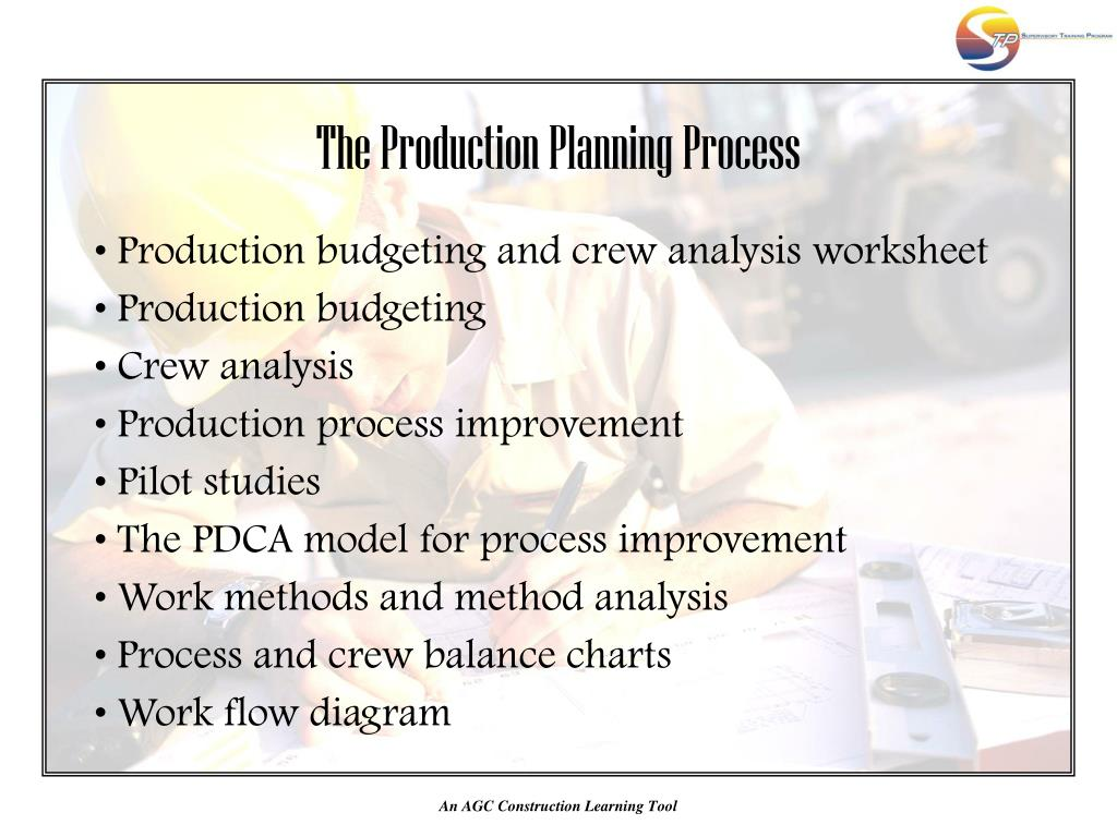 The Production Planning Process