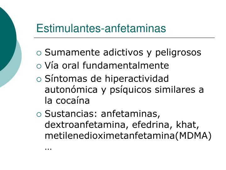 Estimulantes-anfetaminas