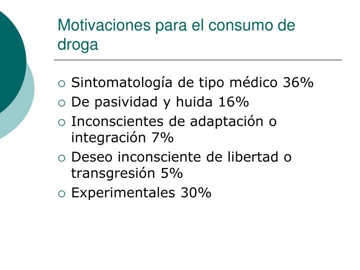 Motivaciones para el consumo de droga