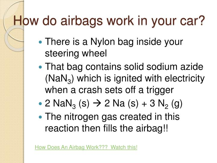 How do airbags work in your car?