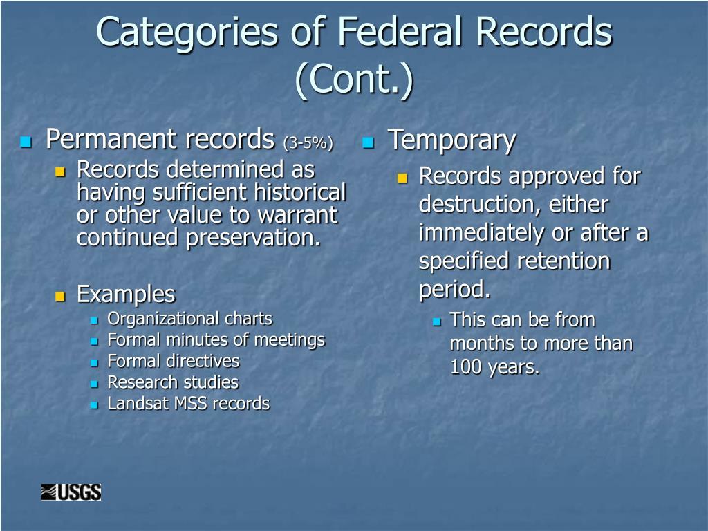 Permanent records