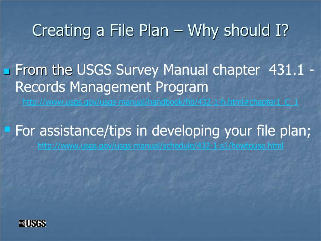 Creating a File Plan – Why should I?