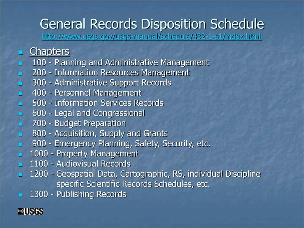 General Records Disposition Schedule
