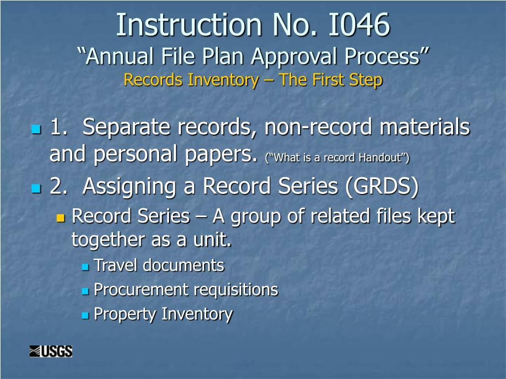 Instruction No. I046