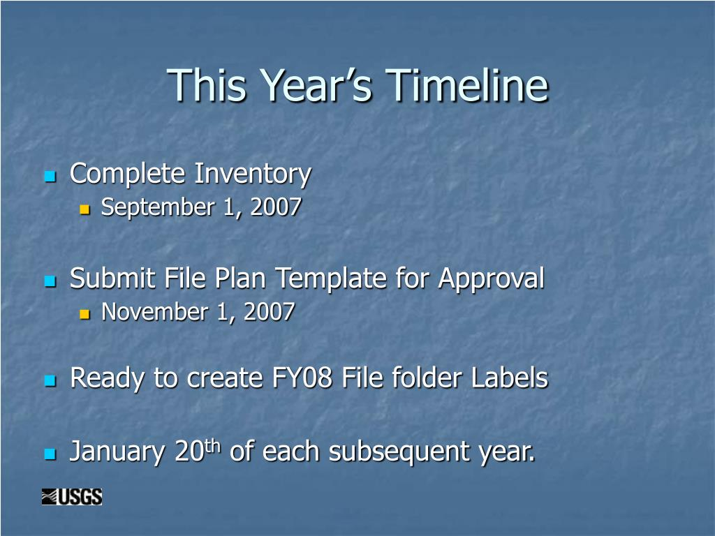 This Year's Timeline