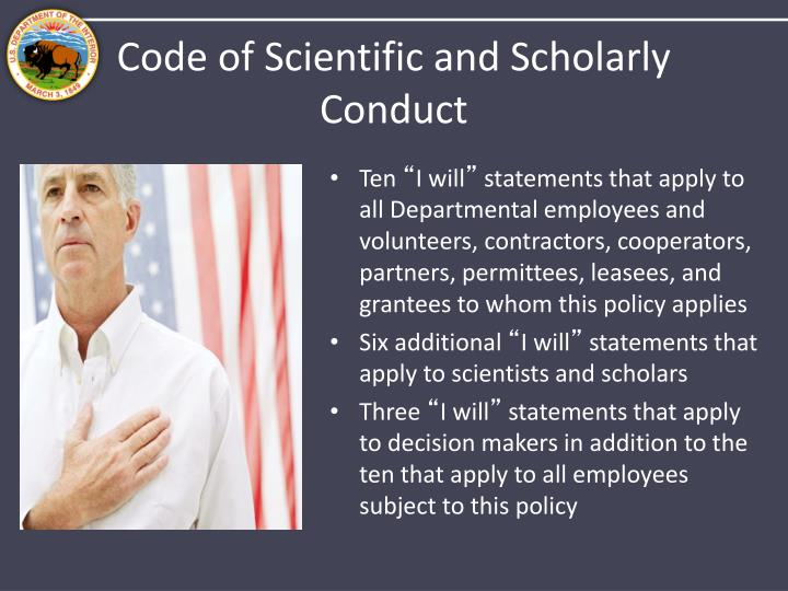Code of Scientific and Scholarly Conduct