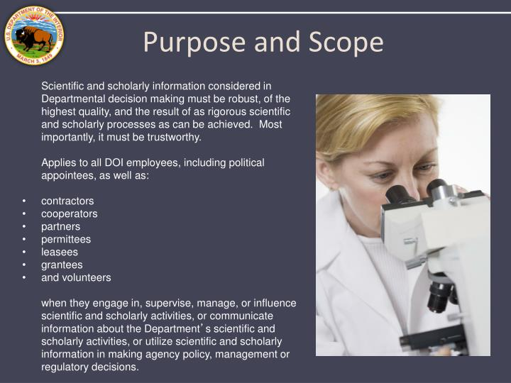 Purpose and Scope
