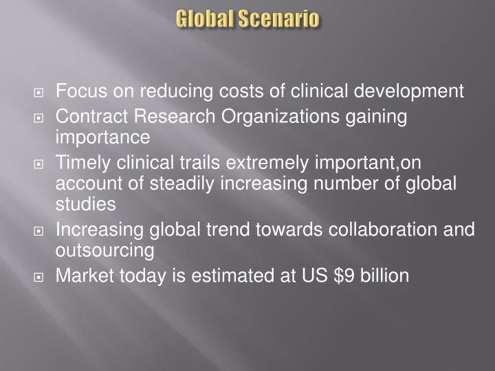 Global Scenario