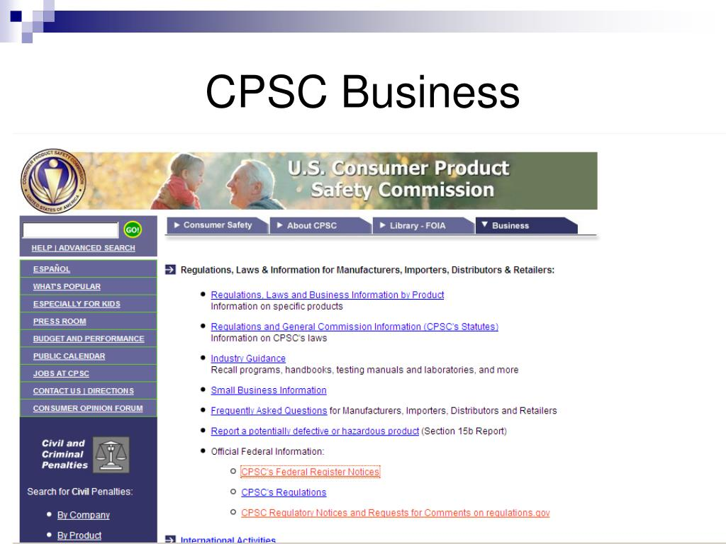 CPSC Business