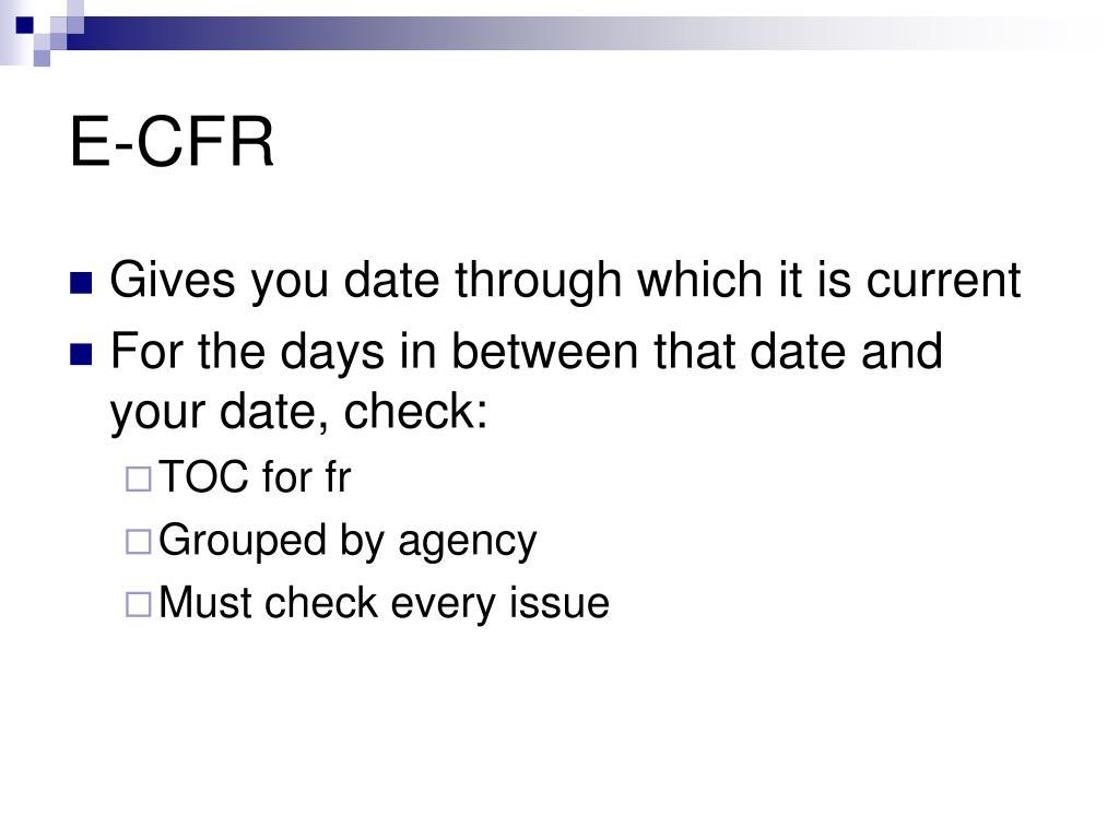 E-CFR
