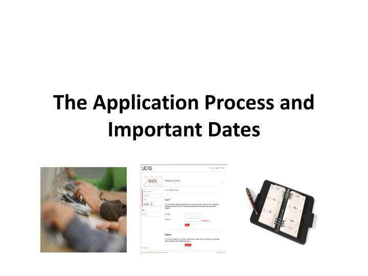 The Application Process and Important Dates