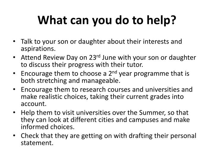 What can you do to help?