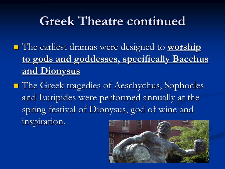 Greek Theatre continued