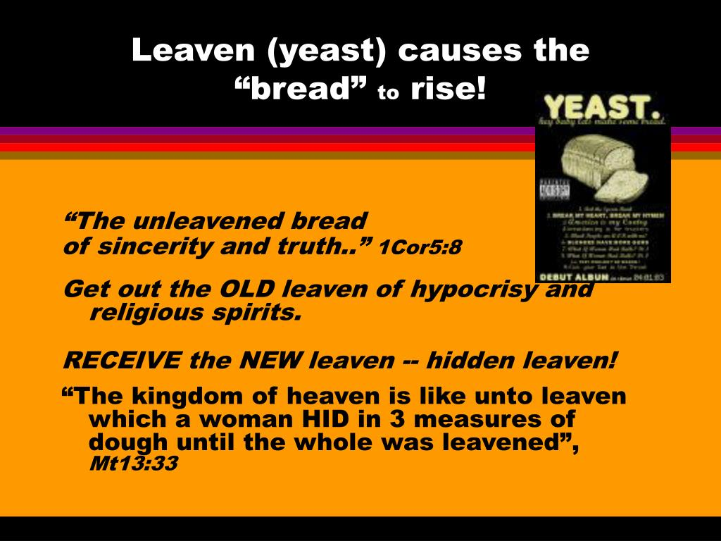 """Leaven (yeast) causes the """"bread"""""""