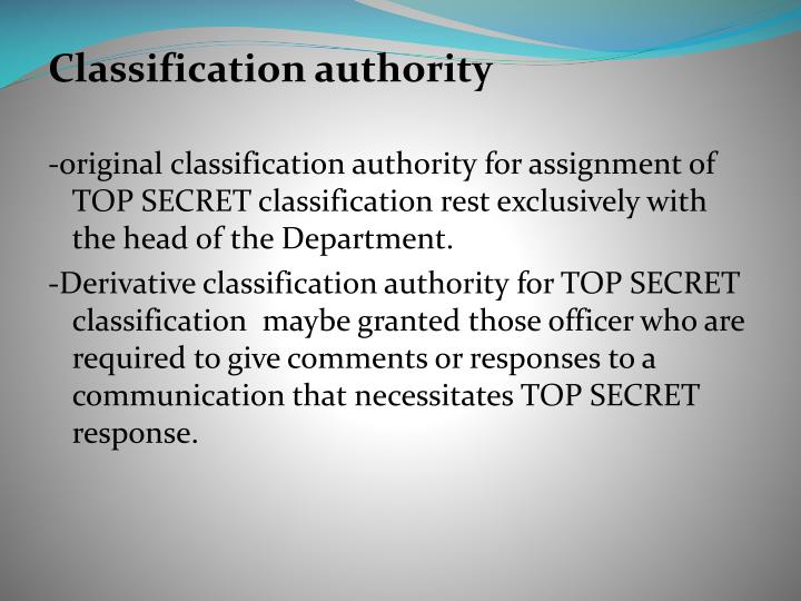 Classification authority