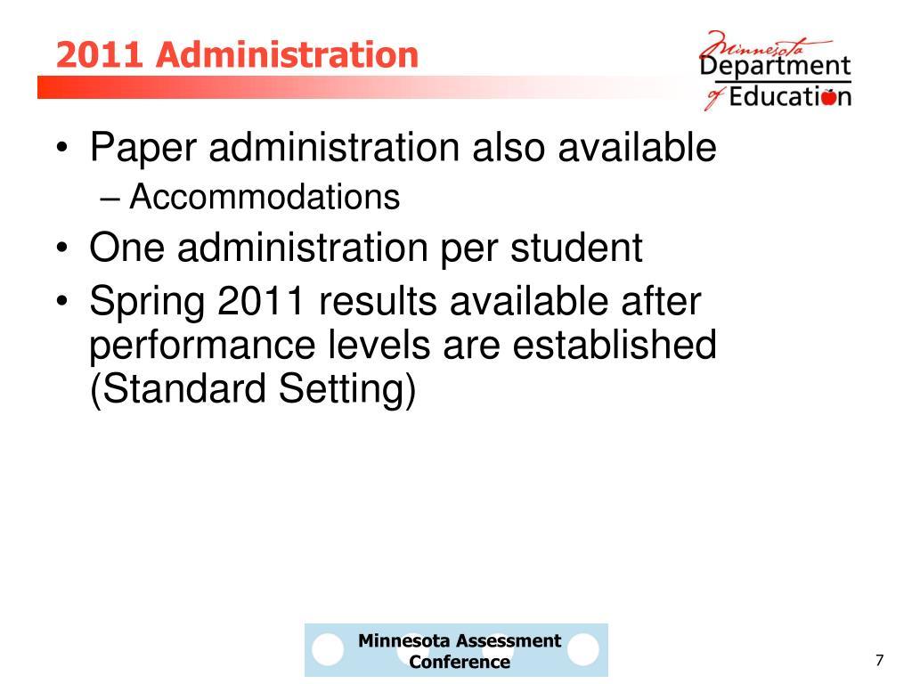 2011 Administration