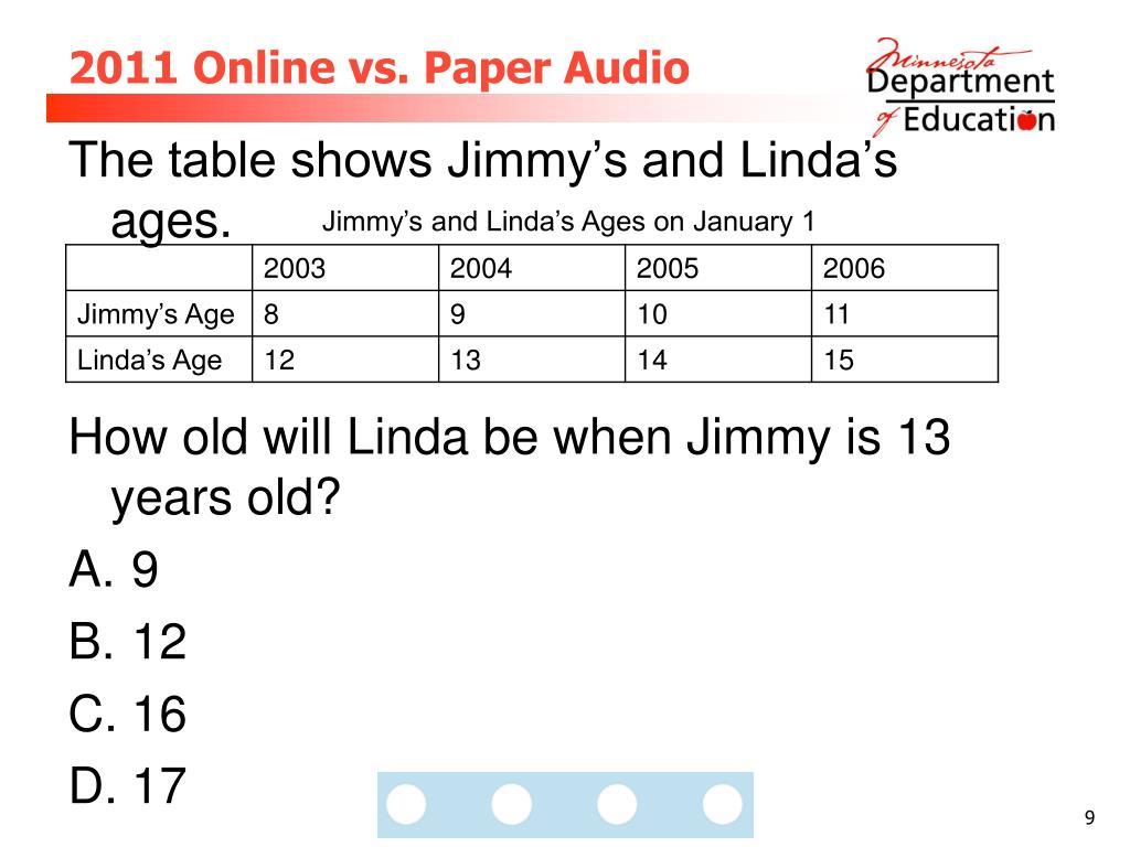 2011 Online vs. Paper Audio