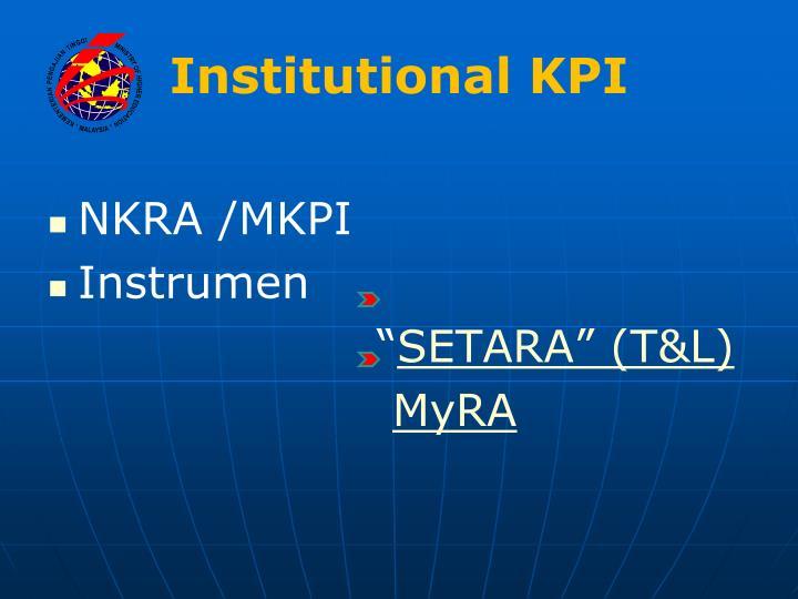 Institutional KPI