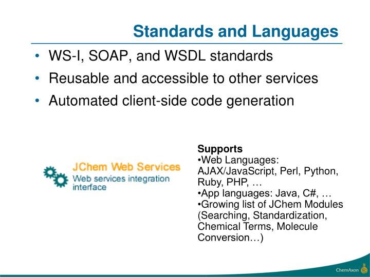 Standards and Languages