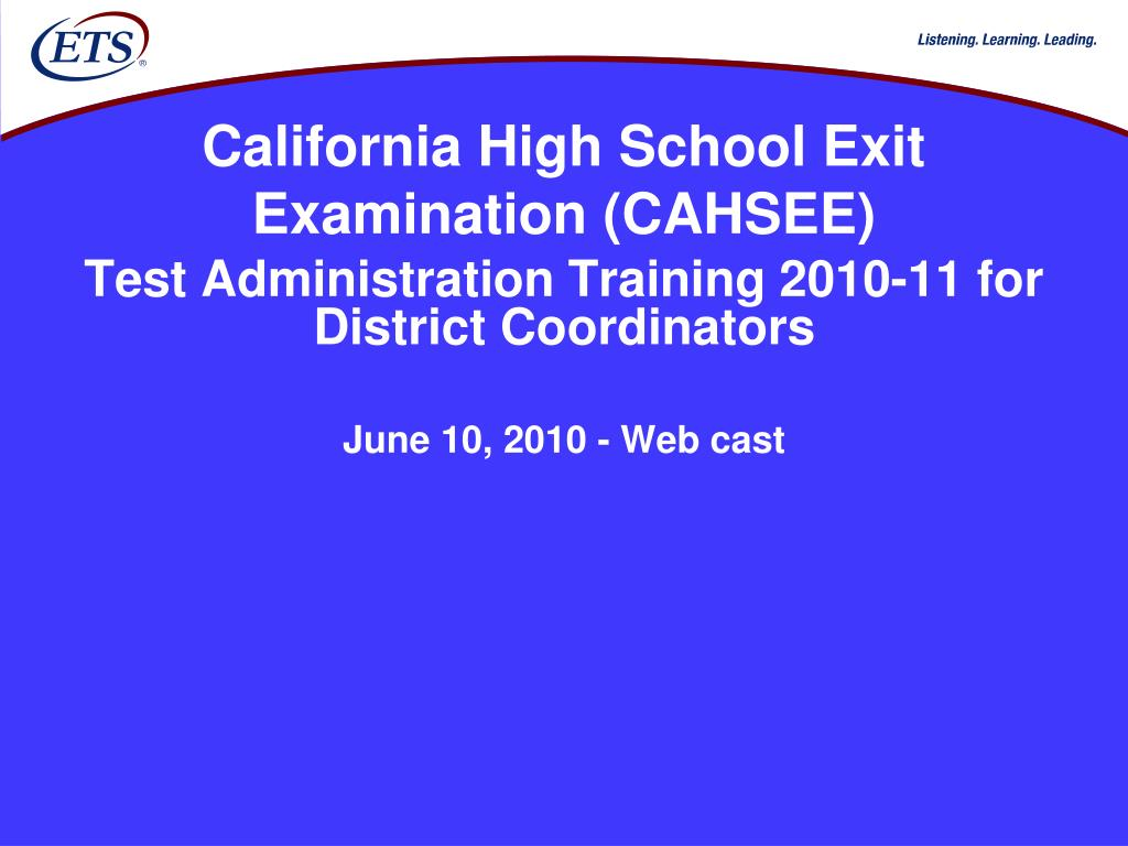 california high school exit examination cahsee