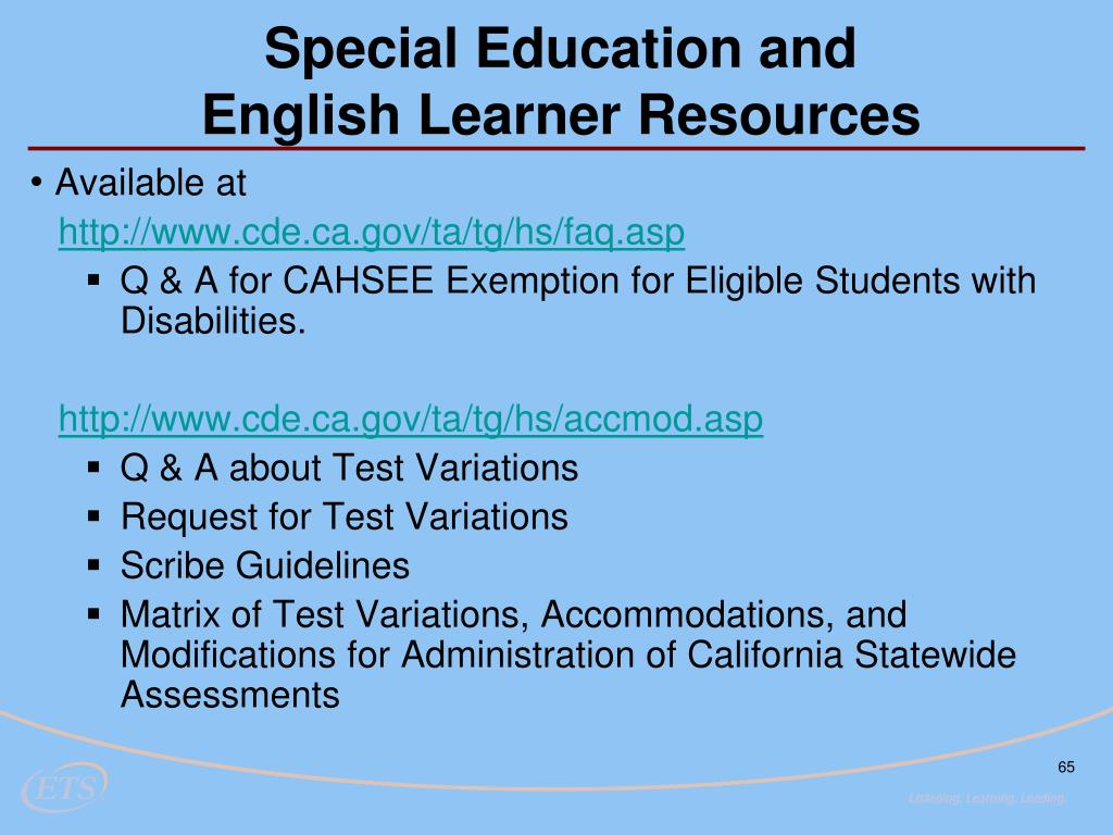 Special Education and