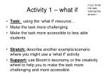 activity 1 what if