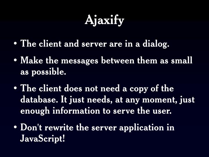 Ajaxify