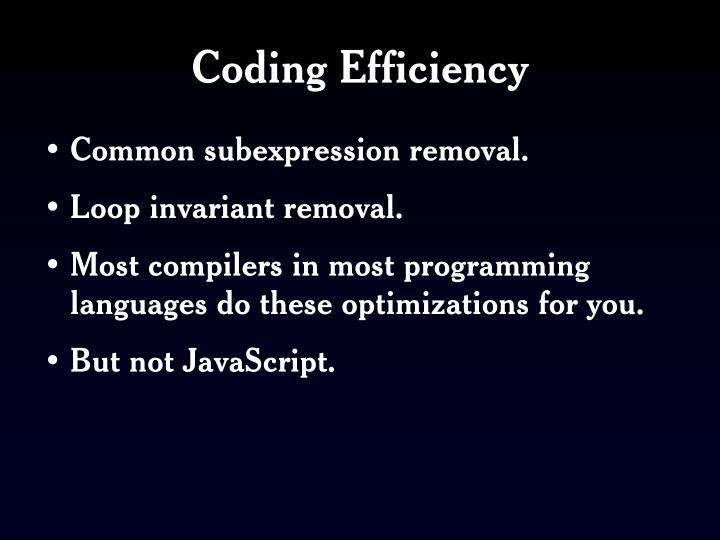 Coding Efficiency