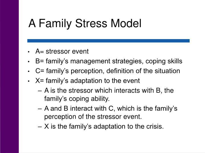 A Family Stress Model