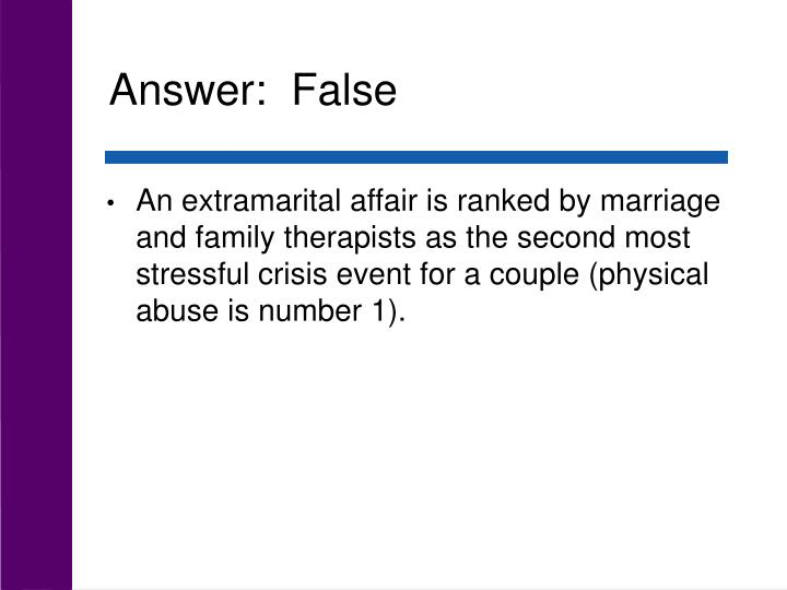 Answer:  False