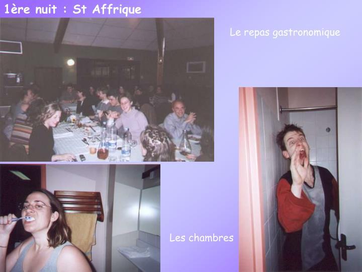 1ère nuit : St Affrique
