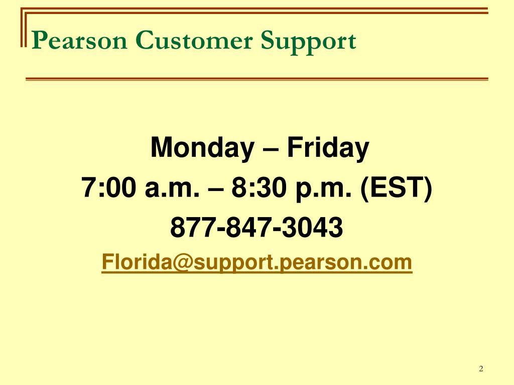 Pearson Customer Support