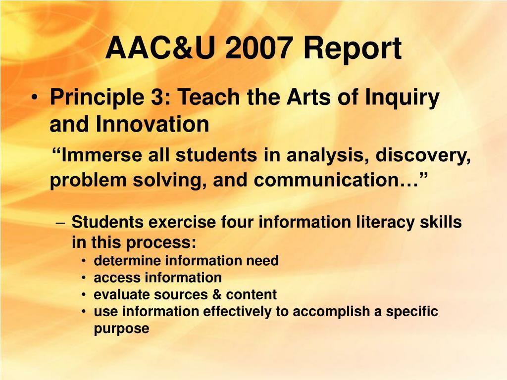 AAC&U 2007 Report