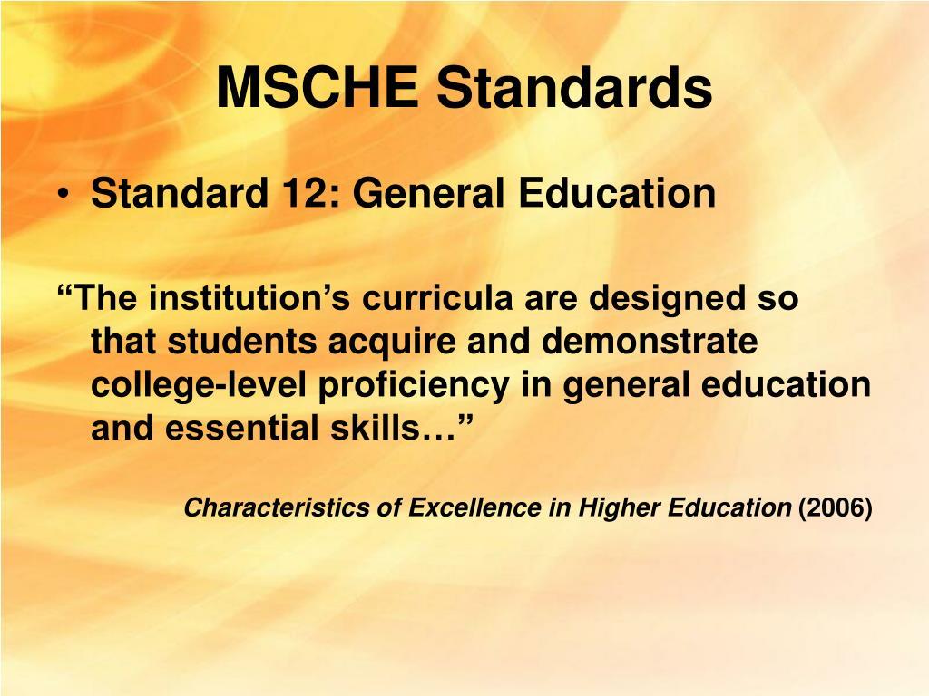 MSCHE Standards