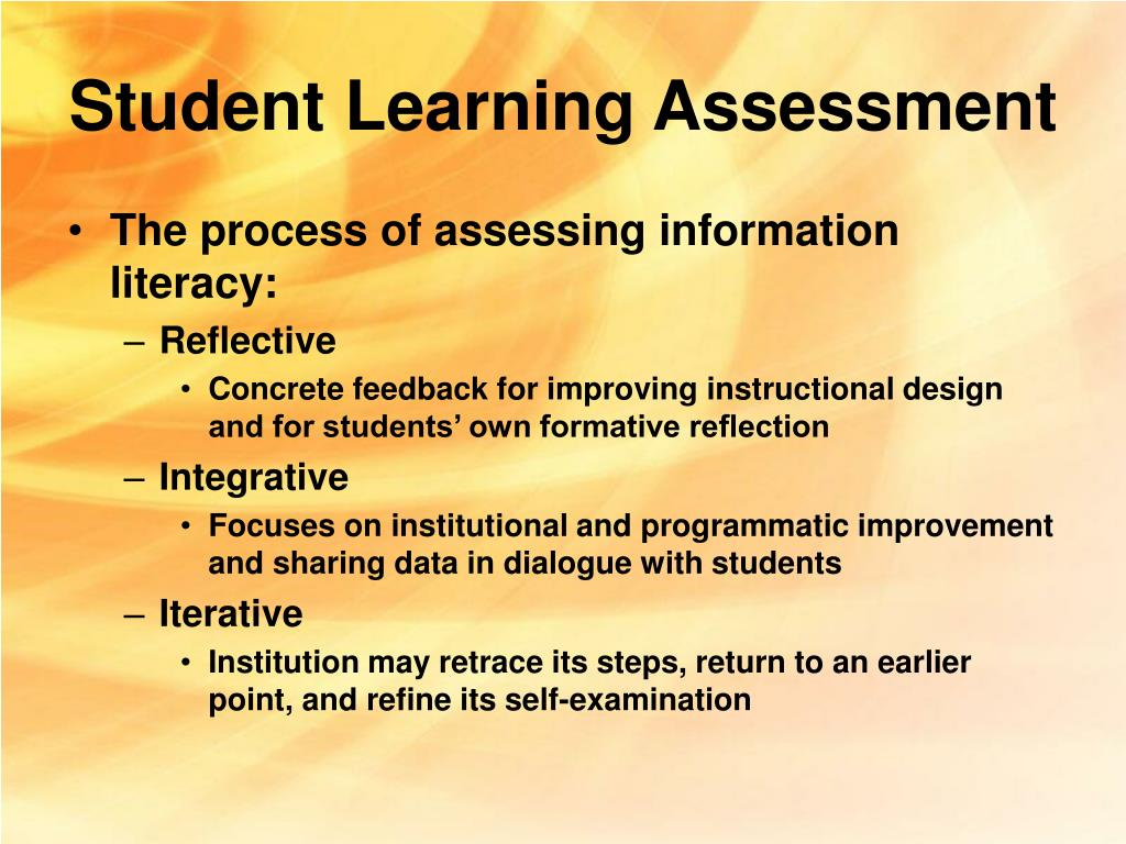 Student Learning Assessment