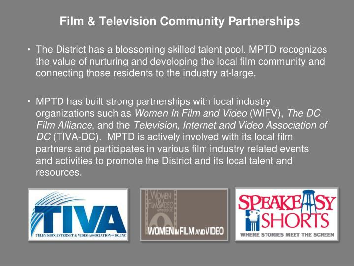 Film & Television Community Partnerships