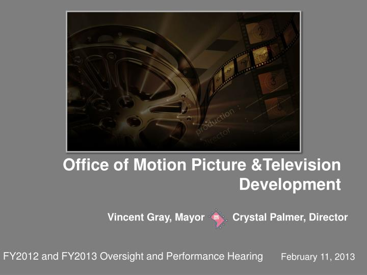 Office of Motion Picture &Television Development