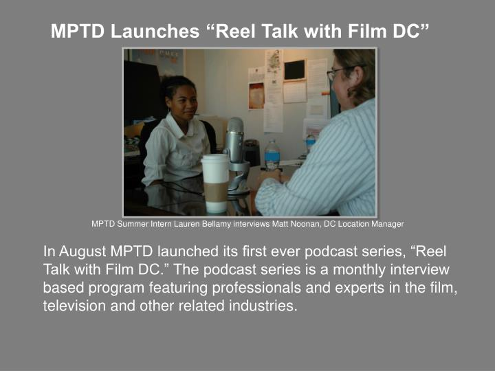 "MPTD Launches ""Reel Talk with Film DC"""