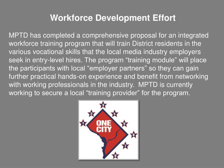 Workforce Development Effort